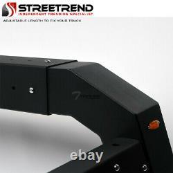 Stehlen Adjustable Truck Bed Chase Rack 3rd Brake Lamp+LED+Amber Lights ST4D