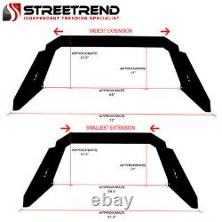 Stehlen Adjustable Truck Bed Chase Rack 3rd Brake Lamp+LED+Amber Lights ST7G