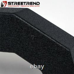 Stehlen Adjustable Truck Bed Chase Rack+Side Rail+Brake Lamp+LED Textured Blk S2