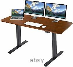TITIMO Electric Adjustable Standing Desk, Sit Stand Up Desk with Memory Settings