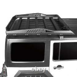 Top Luggage Cargo Roof Rack System Basket for Jeep Wrangler JK 07-18 Hard-Top 4D