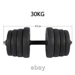 Totall 110LB Weight Dumbbell Set Cap Gym Barbell Plates Body Workout Adjustable