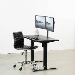 USED VIVO Black Electric StandUpDesk Frame Single Motor Standing Adjustable Base