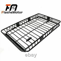 Universal 64 Black Roof Rack Extension Cargo Top Luggage Hold Carrier Basket