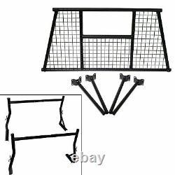 Universal Pickup Truck Bed Ladder Rack Window Protector Rear Back Rack Utility