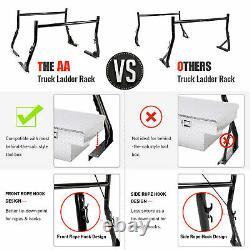 Universal Pickup Truck Ladder Rack 2 Bar Set 800Lb Utility Construction Lumber