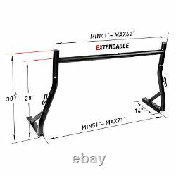 Universal Pickup Truck Ladder Rack Heavy Duty 800lb withClamps Contractor Utility