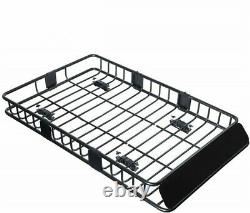 Universal Roof Rack Cargo Basket 250LBS Capacity Fits for Truck SUV & Off-Roader