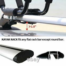 Universal Roof Rack Top Luggage Carrier Basket Traveling SUV Holder + Kayak Rack