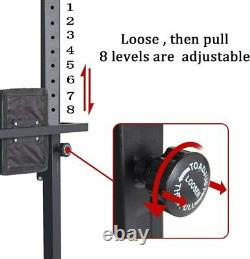 VILOBOS Adjustable Dip Station Power Tower Chin Up Bar Stand Core Fitness Home