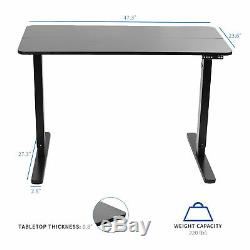 VIVO Black 47x 24 Electric Sit Stand Desk, Height Adjustable Workstation