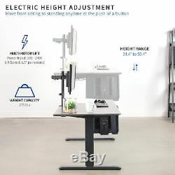 VIVO Electric Sit to Standing Height Desk Frame Dual Motor Ergonomic Adjustable