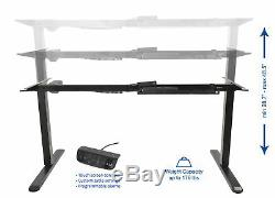 VIVO Electric Stand Up Desk Frame Single Motor Standing Height Adjustable