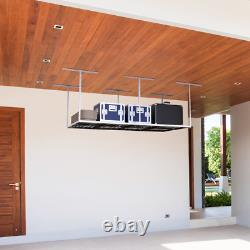 VersaTables USA Made Modular Overhead Adjustable Garage Storage Rack Black