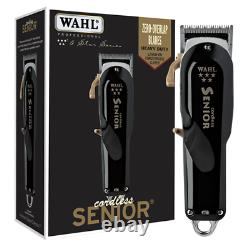 Wahl Professional 5 Star Series Cordless Senior Clipper with Adjustable Blade, L