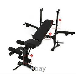 Weight Bench Barbell Lifting Press Gym Equipment Exercise Adjustable Incline NEW