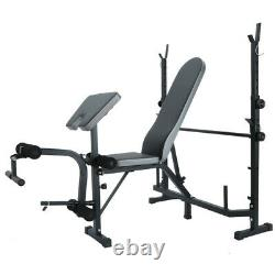 Weight Bench Set Adjustable Home Gym Press Lifting Barbell Exercise Workout NEW